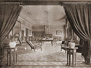 Los Angeles Athletic Club - Reading Room of the Los Angeles Athletic Club as it appeared in the middle 1890s.