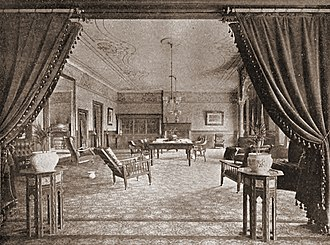 Los Angeles Athletic Club - Reading Room of the Los Angeles Athletic Club as it appeared in the middle 1890s