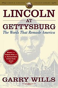 Cover of Lincoln at Gettysburg: The Words That Remade America; featured is Abraham Lincoln