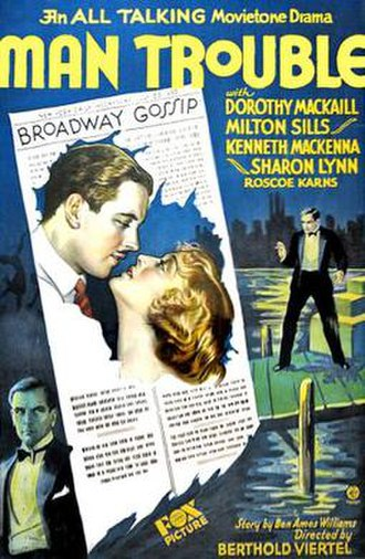 Man Trouble (1930 film) - Theatrical release poster