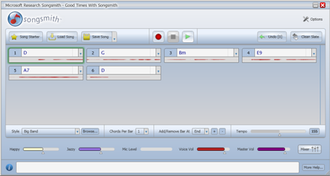 Microsoft Songsmith - Songsmith Screenshot