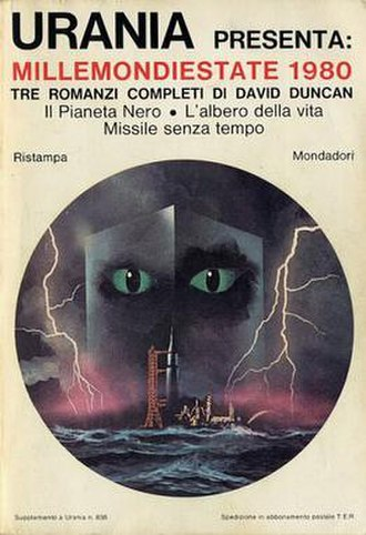 Urania (magazine) - A cover by Karel Thole for Millemondi, a spin-off series of reprints or short stories collections.