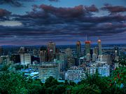 Skyline of Montreal seen from Mont Royal park.