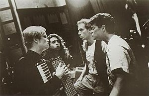 Moxy Früvous - Moxy Früvous, 1993 (left to right: Dave Matheson, Jian Ghomeshi, Murray Foster, Mike Ford)