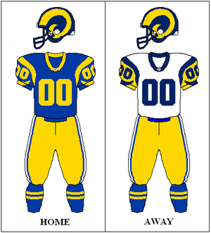 Los Angeles/St Louis Rams uniform: 1973-1999. ...