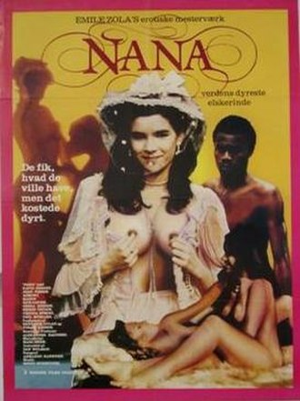 Nana, the True Key of Pleasure - promotional poster to the 1982 Golan-Globus production.