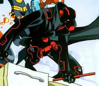 Night Thrasher (Dwayne Taylor) - Night Thrasher's last suit of armor. Art by Skottie Young.