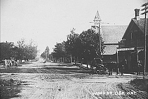 Woodbridge, Ontario - Pine Street (now Woodbridge Avenue), circa 1850