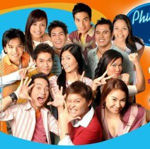 Philippine Idol - The Philippine Idol Final 12, as they appeared in an advertisement for the program.