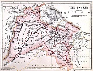 Punjab Province (British India) - The Punjab in 1880