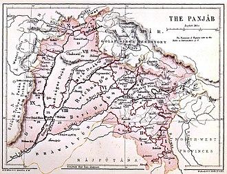 Punjab - The Panjab, 1880
