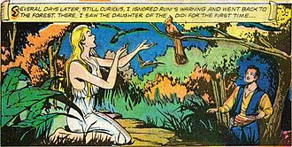 Rima - Rima as first glimpsed by Abel (and comic book readers) in the 1951  Classics Illustrated adaptation, published in 1952
