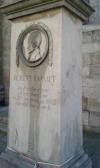 Robert Emmet - Memorial at Emmet's execution site, Thomas Street