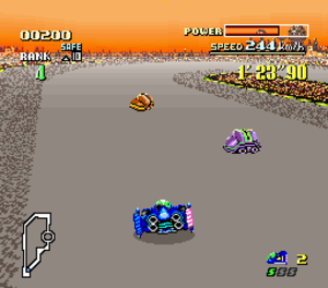 F-Zero - F-Zero, one of the first games to use Mode 7