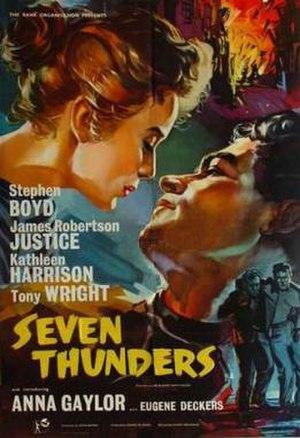 Seven Thunders (film) - Image: Seven Thunders Film Poster