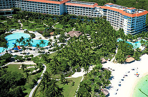 Shangri-La's Mactan Resort & Spa, Cebu - Image: Shangri La Mactan Island Resort & Spa, Cebu (aerial view)