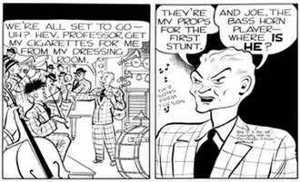 Spike Jones - September 14, 1949 appearance of Spike Dyke, modeled on Spike Jones, in Chester Gould's Dick Tracy