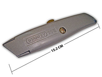 Utility knife - A Stanley 99E utility knife, fully retracted
