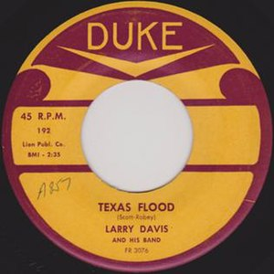 Texas Flood (song) - Image: Texas Flood single cover