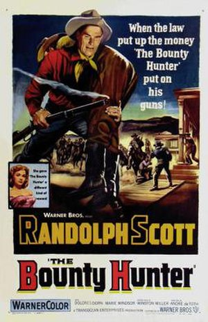 The Bounty Hunter (1954 film) - Promotional film poster