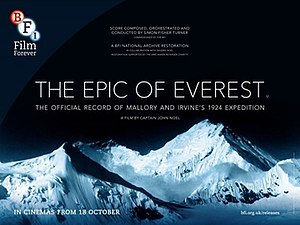 The Epic of Everest - UK re-release poster