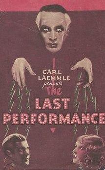 <i>The Last Performance</i> 1929 film by Paul Fejos