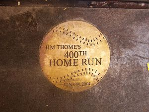 2004 Philadelphia Phillies season - The plague marking the landing point of Jim Thome's 400th career home run.