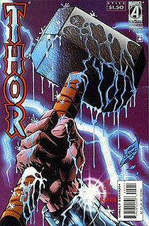 Mjolnir (comics) hammer of the god Thor in the Marvel Comics universe
