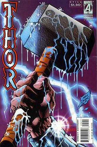 Mjolnir (comics) - Image: Thor 494