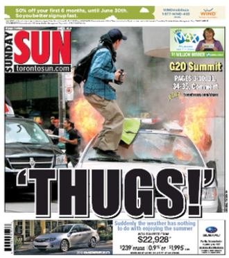 Toronto Sun - The Sun cover from June 27, 2010.