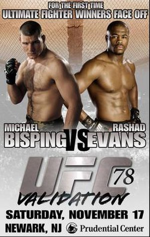 UFC 78 - Image: UFC 78 Validation Poster