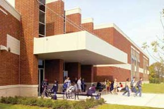Westerville Central High School - Image: Westerville Central High School, east entrance