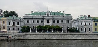 Yakimanka District - Former British Embassy in Boloto, facing Kremlin, originally Gustav List mansion