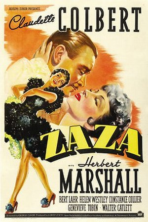 Zaza (1939 film) - Theatrical poster
