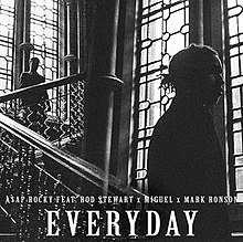 ASAP Rocky featuring Rod Stewart, Miguel and Mark Ronson — Everyday (studio acapella)
