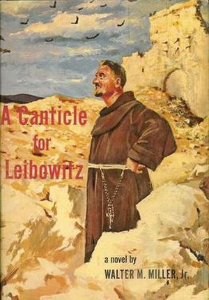 A Canticle for Leibowitz - First edition dust jacket Illustration by George Sottung