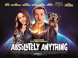 Absolutely Anything - UK theatrical release poster