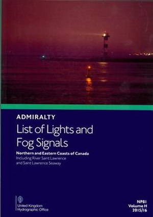 Light List - Image: Admiralty List of Lights & Fog Signals vol H