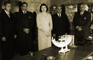 Asadollah Alam - Alam (second from left) with Queen Soraya Esfandiari