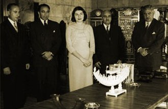 Asadollah Alam - Alam (second from left) with Queen Soraya Esfandiari