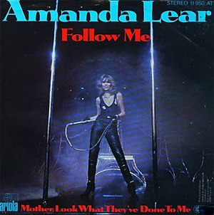 Follow Me (Amanda Lear song) - Image: Amanda Lear Follow Me (single)
