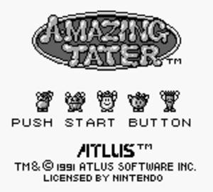 Amazing Tater - Title screen of Amazing Tater