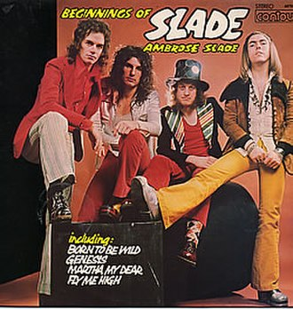 Beginnings (Ambrose Slade album) - 'Beginnings of Slade' album cover