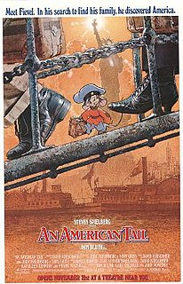 <i>An American Tail</i> 1986 animated film directed by Don Bluth