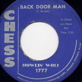 Back Door Man - Image: Back Door Man single cover