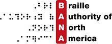 Logo of the Braille Authority of North America