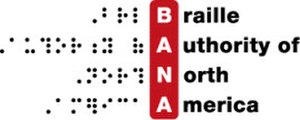 Braille Authority of North America - Image: Braille Authority of North America logo