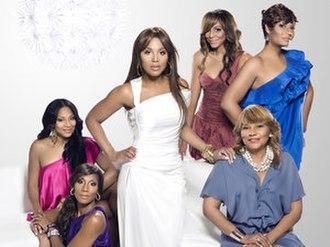Braxton Family Values - Trina Braxton, Towanda Braxton, Toni Braxton, Tamar Braxton, Evelyn Braxton, and Traci Braxton (from left)