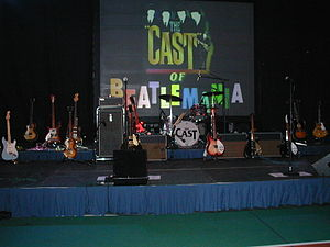 The Cast of Beatlemania - The Cast Backline