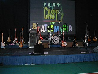The Cast of Beatlemania - The Cast Backline